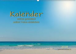 Kalender – selbst gestalten, Fotos selbst einkleben (Wandkalender 2018 DIN A2 quer) von Roder,  Peter