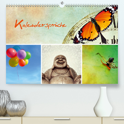 Kalendersprüche (Premium, hochwertiger DIN A2 Wandkalender 2021, Kunstdruck in Hochglanz) von Hultsch,  Heike
