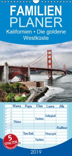 Kalifornien • Die goldene Westküste – Familienplaner hoch (Wandkalender 2019 , 21 cm x 45 cm, hoch) von Stanzer,  Elisabeth