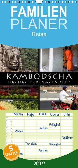 Kambodscha Highlights aus Asien 2019 – Familienplaner hoch (Wandkalender 2019 , 21 cm x 45 cm, hoch) von Gerner-Haudum . Reisefotografie,  Gabriele