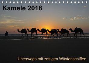 Kamele 2018 – Unterwegs mit zottigen WüstenschiffenCH-Version (Tischkalender 2018 DIN A5 quer) von Weber,  Melanie