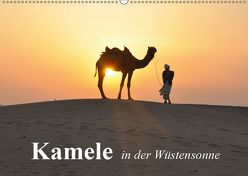 Kamele in der Wüstensonne (Wandkalender 2019 DIN A2 quer) von Stanzer,  Elisabeth