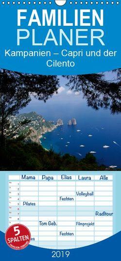 Kampanien – Capri und der Cilento – Familienplaner hoch (Wandkalender 2019 , 21 cm x 45 cm, hoch) von Hegerfeld-Reckert,  Anneli