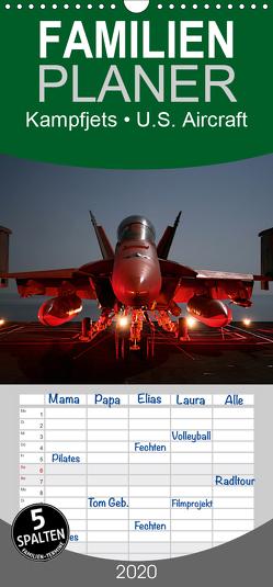 Kampfjets • U.S. Aircraft – Familienplaner hoch (Wandkalender 2020 , 21 cm x 45 cm, hoch) von Stanzer,  Elisabeth