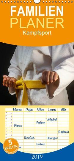 Kampfsport – Familienplaner hoch (Wandkalender 2019 , 21 cm x 45 cm, hoch) von Jäger,  Anette/Thomas