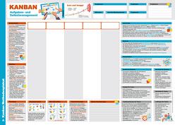 Kanban Methodenplakat und Taskboard von Harms,  Knut