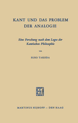 Kant und das Problem der Analogie von Takeda,  Sueo