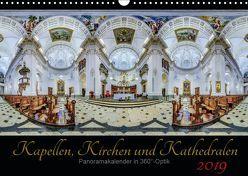 Kapellen, Kirchen und Kathedralen 2019 (Wandkalender 2019 DIN A3 quer) von Christen,  Ernst