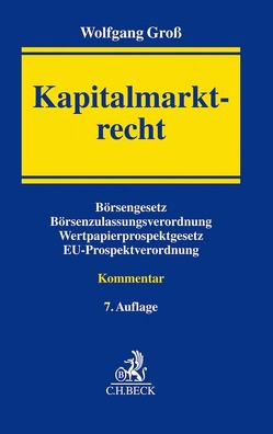 Kapitalmarktrecht von Groß,  Wolfgang