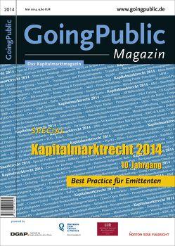 Kapitalmarktrecht 2014 von GoingPublic Media AG