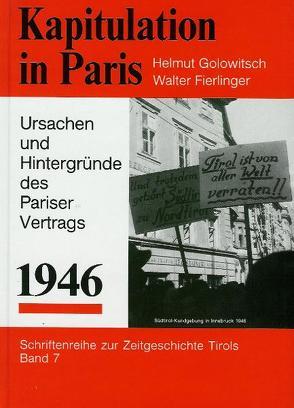 Kapitulation in Paris 1946 von Fierlinger,  Walter, Golowitsch,  Helmut
