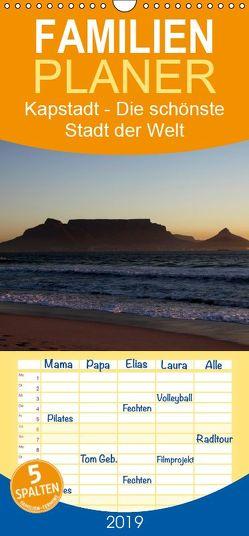 Kapstadt – Die schönste Stadt der Welt – Familienplaner hoch (Wandkalender 2019 , 21 cm x 45 cm, hoch) von Sander,  Stefan