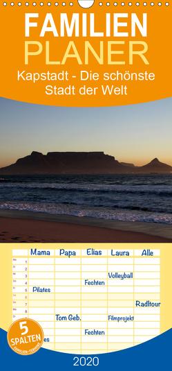 Kapstadt – Die schönste Stadt der Welt – Familienplaner hoch (Wandkalender 2020 , 21 cm x 45 cm, hoch) von Sander,  Stefan