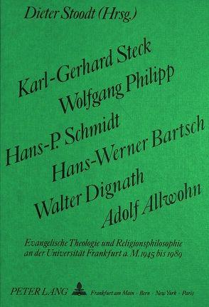 Karl-Gerhard Steck, Wolfgang Philipp, Hans-P. Schmidt, Hans-Werner Bartsch, Walter Dignath, Adolf Allwohn von Stoodt,  Dieter