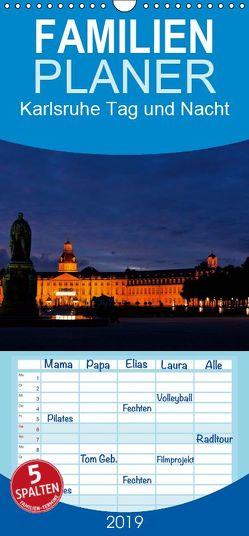 Karlsruhe Tag und Nacht – Familienplaner hoch (Wandkalender 2019 , 21 cm x 45 cm, hoch) von boeTtchEr,  U
