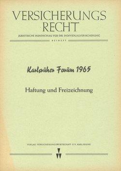 Karlsruher Forum 1965 von Klingmüller,  Ernst