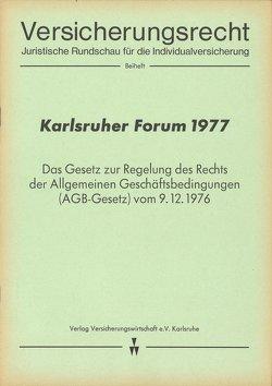 Karlsruher Forum 1977 von Klingmüller,  Ernst