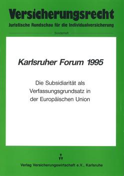 Karlsruher Forum 1995 von Klingmüller,  Ernst