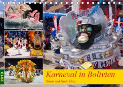 Karneval in Bolivien. Oruro – Santa Cruz (Tischkalender 2019 DIN A5 quer) von Indermuehle,  Tobias