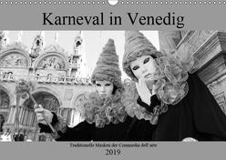 Karneval in Venedig – Schwarzweiss (Wandkalender 2019 DIN A3 quer) von Riedmiller,  Andreas