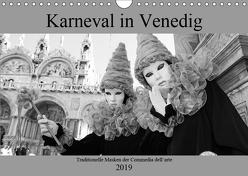 Karneval in Venedig – Schwarzweiss (Wandkalender 2019 DIN A4 quer) von Riedmiller,  Andreas