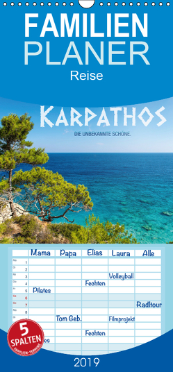 Karpathos – die unbekannte Schöne – Familienplaner hoch (Wandkalender 2019 , 21 cm x 45 cm, hoch) von Mitchell,  Frank