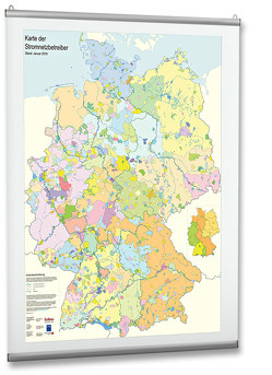 Karte der Stromnetzbetreiber 2019