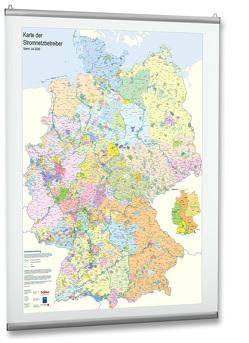 Karte der Stromnetzbetreiber 2020