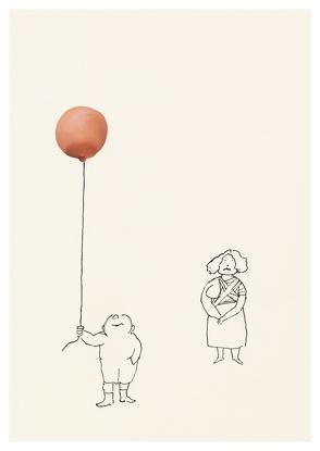 Ohne Titel / Luftballon (Postkarte, 20 Ex) von Ungerer,  Tomi