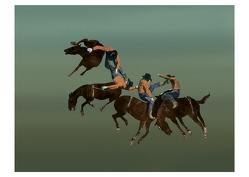 Rodeo (Postkarte, 20 Ex) von Ungerer,  Tomi