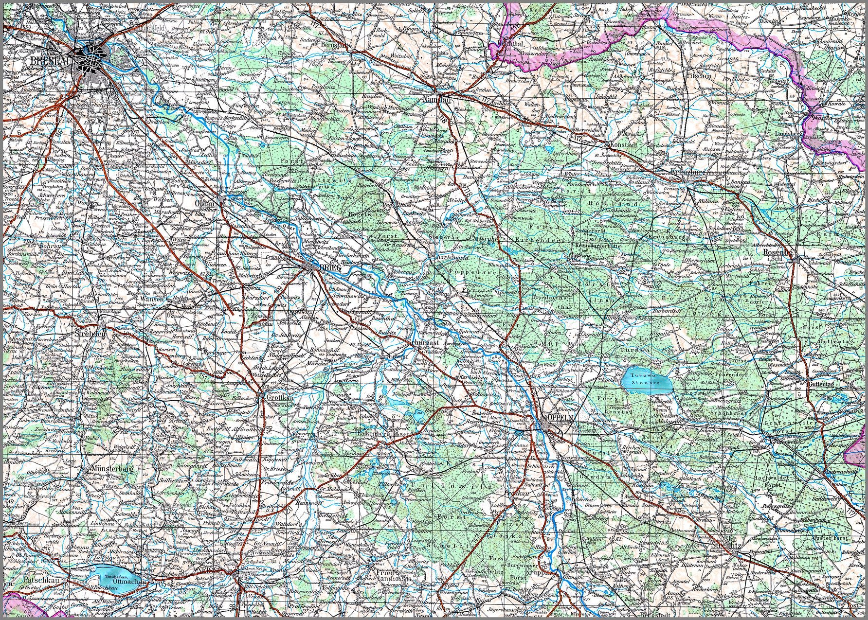 oberschlesien karte Karte von Oberschlesien von BKG   Bundesamt für Kartographie und Geod