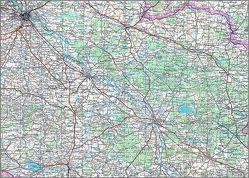 Karte von Oberschlesien von BKG - Bundesamt für Kartographie und Geodäsie
