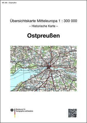Karte von Ostpreußen von BKG - Bundesamt für Kartographie und Geodäsie
