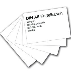 Karteikarten 200 Stück A6 weiß blanko von Ademo,  Verlag