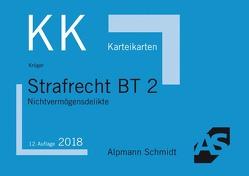 Karteikarten Strafrecht BT 2 von Krüger,  Rolf