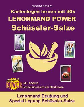 Kartenlegen lernen mit 40x LENORMAND POWER Schüssler-Salze von Schulze,  Angelina