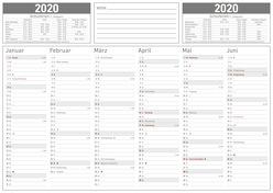 Karton-Tafelkalender A4 2020 – 28,7 x 21 – Jahresplaner – mit Ferienterminen – Jahresübersicht von ALPHA EDITION