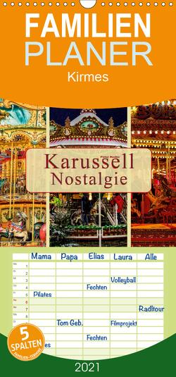 Karussell – Nostalgie – Familienplaner hoch (Wandkalender 2021 , 21 cm x 45 cm, hoch) von Roder,  Peter