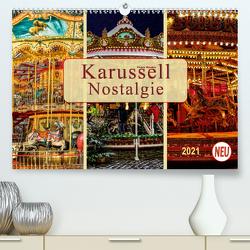 Karussell – Nostalgie (Premium, hochwertiger DIN A2 Wandkalender 2021, Kunstdruck in Hochglanz) von Roder,  Peter