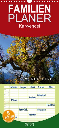 Karwendelherbst – Familienplaner hoch (Wandkalender 2020 , 21 cm x 45 cm, hoch) von Maier,  Norbert