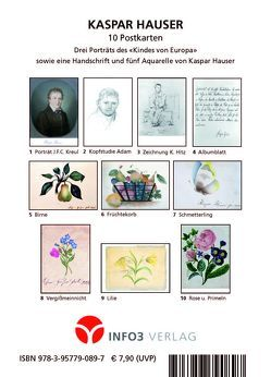 Kaspar Hauser Postkarten-Set von Hauser,  Kaspar