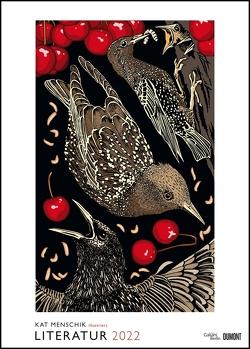 Kat Menschik illustriert Literatur – Literarischer Posterkalender in Bildern 2022 – Wand-Kalender von DUMONT – Format 50 x 70 cm von Menschik,  Kat