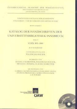Katalog der Handschriften der Universitätsbibliothek Innsbruck / Katalog der Handschriften der Universitätsbibliothek Innsbruck von Neuhauser,  Walter