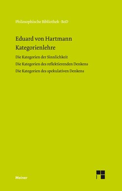 Kategorienlehre von Hartmann,  Eduard von, Kern,  Fritz