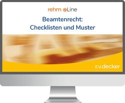 Kathke/Speckbacher – Beamtenrecht: Checklisten und Muster online von Kathke,  Leonhard, Polner,  Thomas, Speckbacher,  Franz-Josef