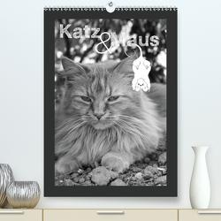 Katz & Maus (Premium, hochwertiger DIN A2 Wandkalender 2021, Kunstdruck in Hochglanz) von Koch,  Julia