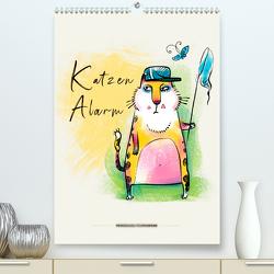 Katzen Alarm (Premium, hochwertiger DIN A2 Wandkalender 2020, Kunstdruck in Hochglanz) von Roder,  Peter