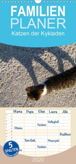 Katzen der Kykladen – Familienplaner hoch (Wandkalender 2020 , 21 cm x 45 cm, hoch) von Kraemer,  Silvia