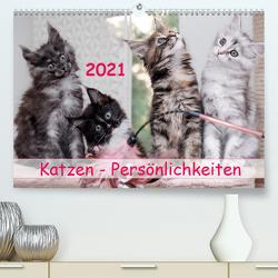 Katzen Persönlichkeiten 2021 (Premium, hochwertiger DIN A2 Wandkalender 2021, Kunstdruck in Hochglanz) von Rüberg,  Patrick