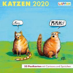 Katzen – Postkartenkalender 2020 von Diverse